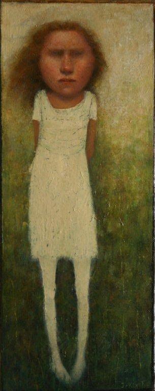 José van Kleef | Staand meisje in witte jurk