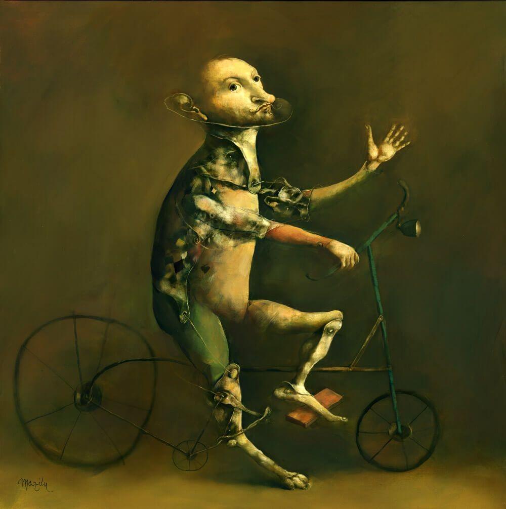 Georges Mazilu   Le Bicycliste