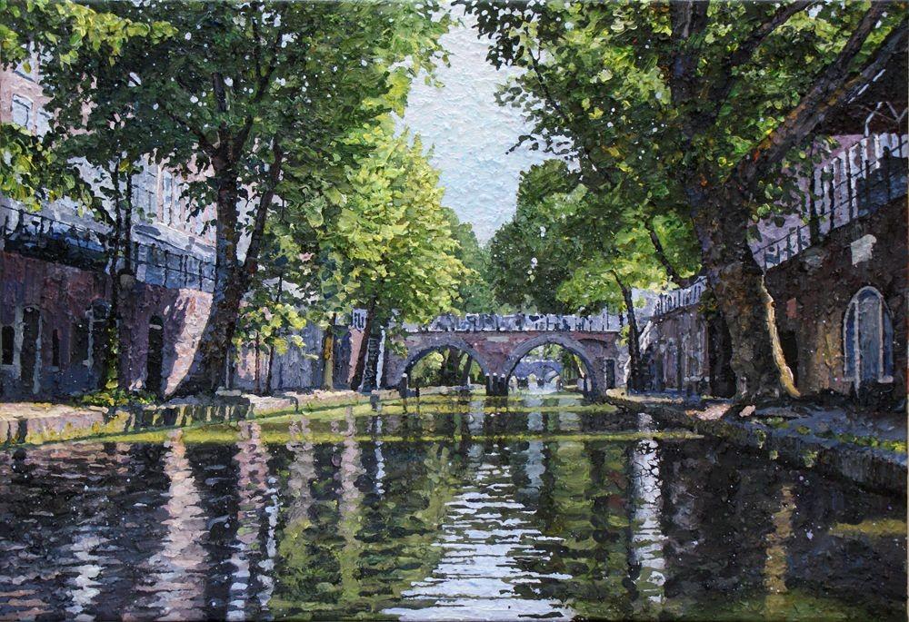 Willem van der Hofstede | Oudegracht met Hamburgerbrug