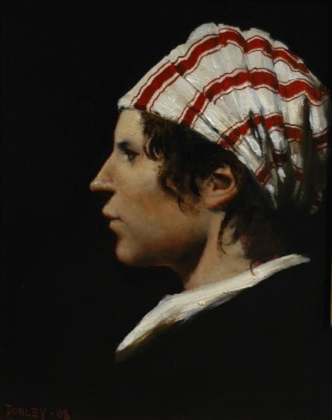 Ray Donley - Figure with Striped Cap