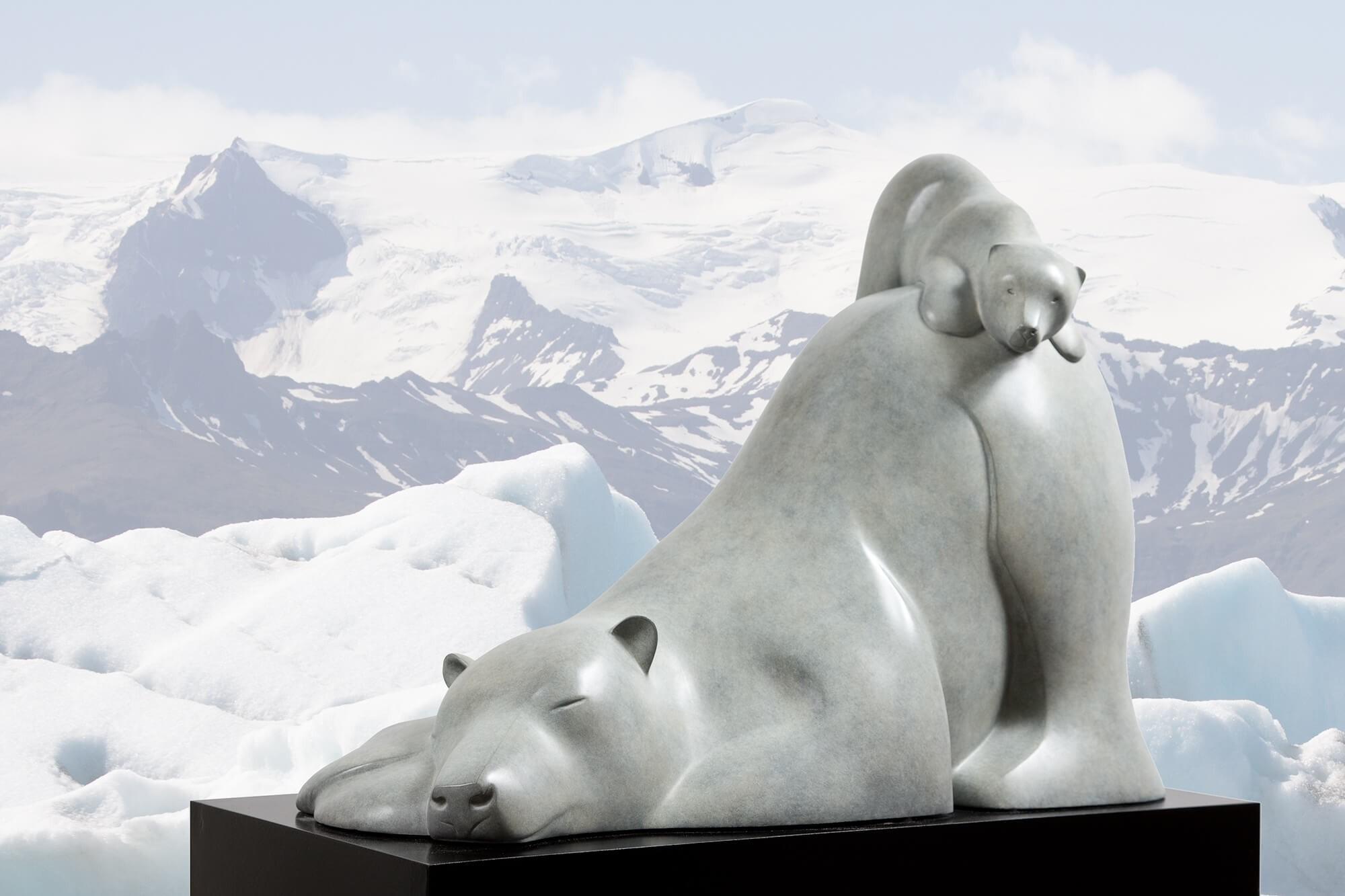 Evert den Hartog | IJsbeer met jong