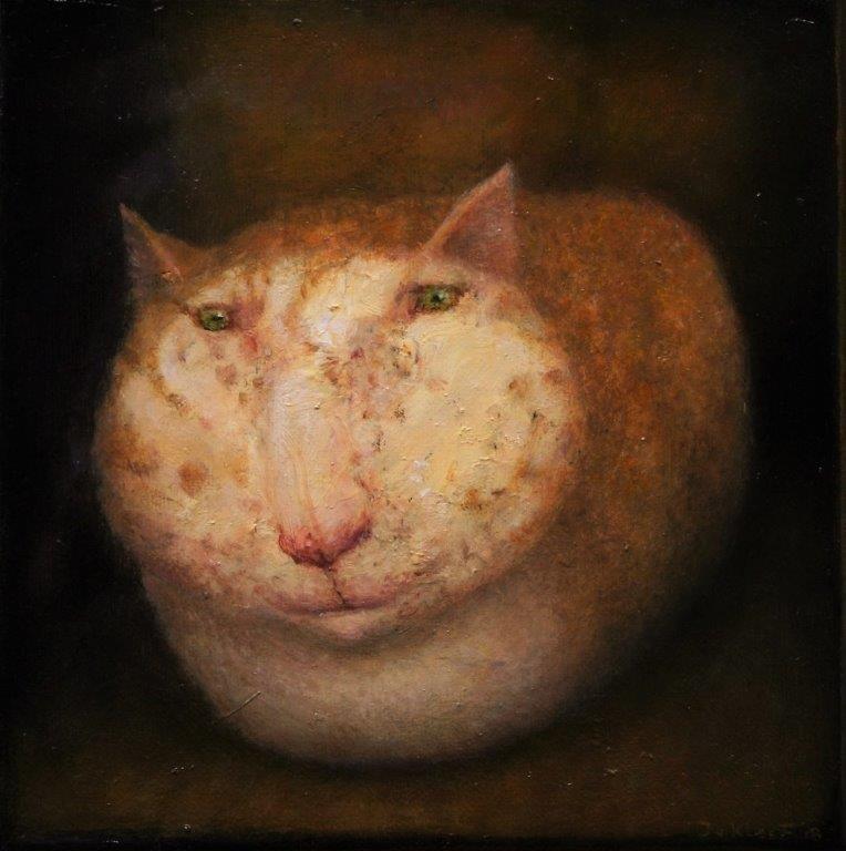 José van Kleef   Kat in donker
