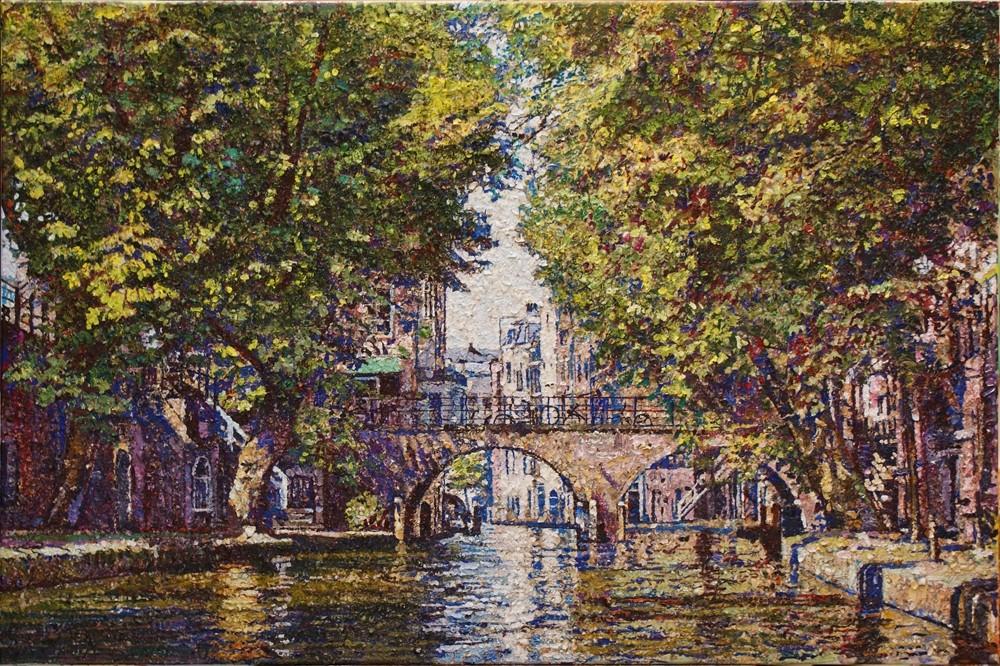 Willem van der Hofstede | Oudegracht met Gaardburg III