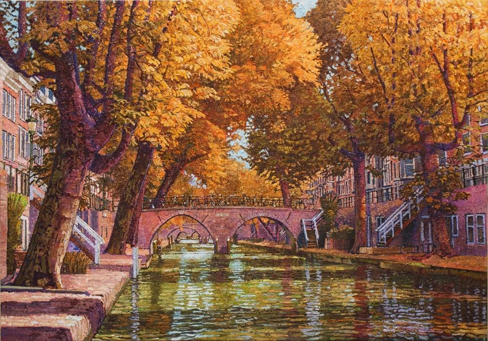 Willem van der Hofstede | Oudegracht met Weesbrug