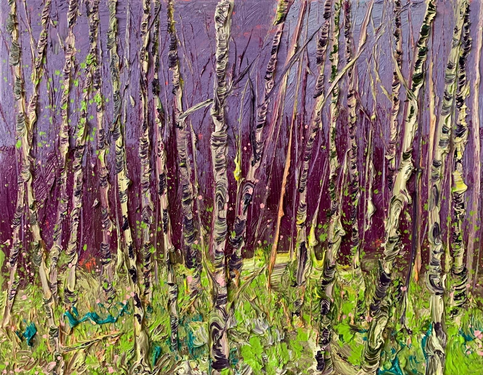 Gertjan Scholte-Albers | Purple Sky Birches
