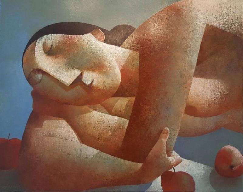 Peter Harskamp - Vrouw met drie appels