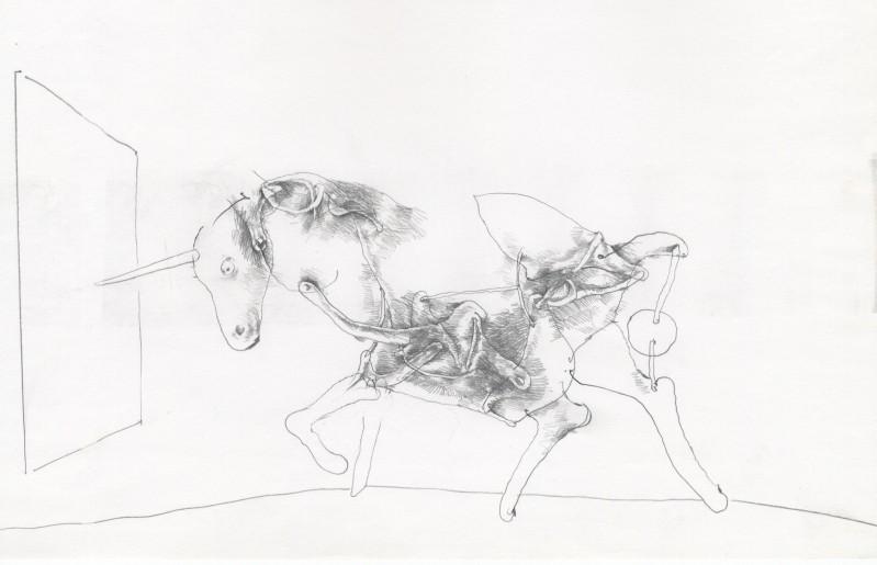 Georges Mazilu - La Licorne ( Tekening)