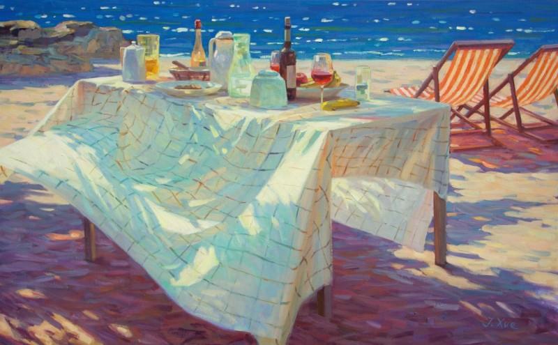 Juane Xue - Lunchen aan zee