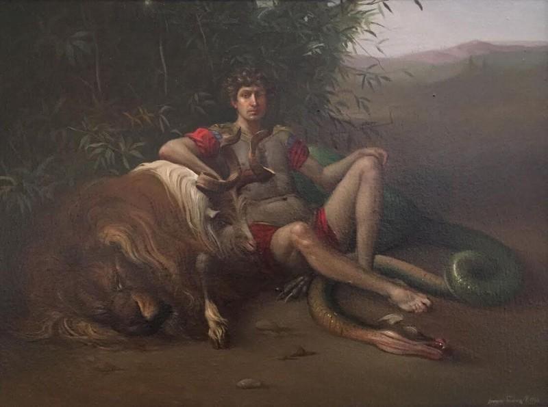 Giovanni Tommasi Ferroni - Bellerofonte e la Chimera