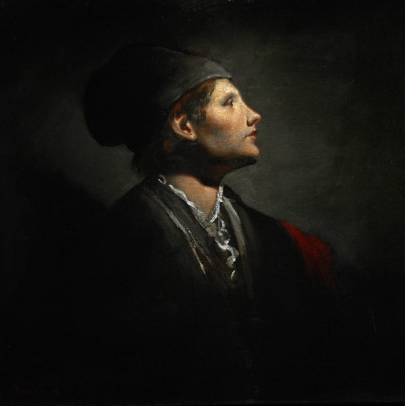 Ray Donley - Figure with black beret