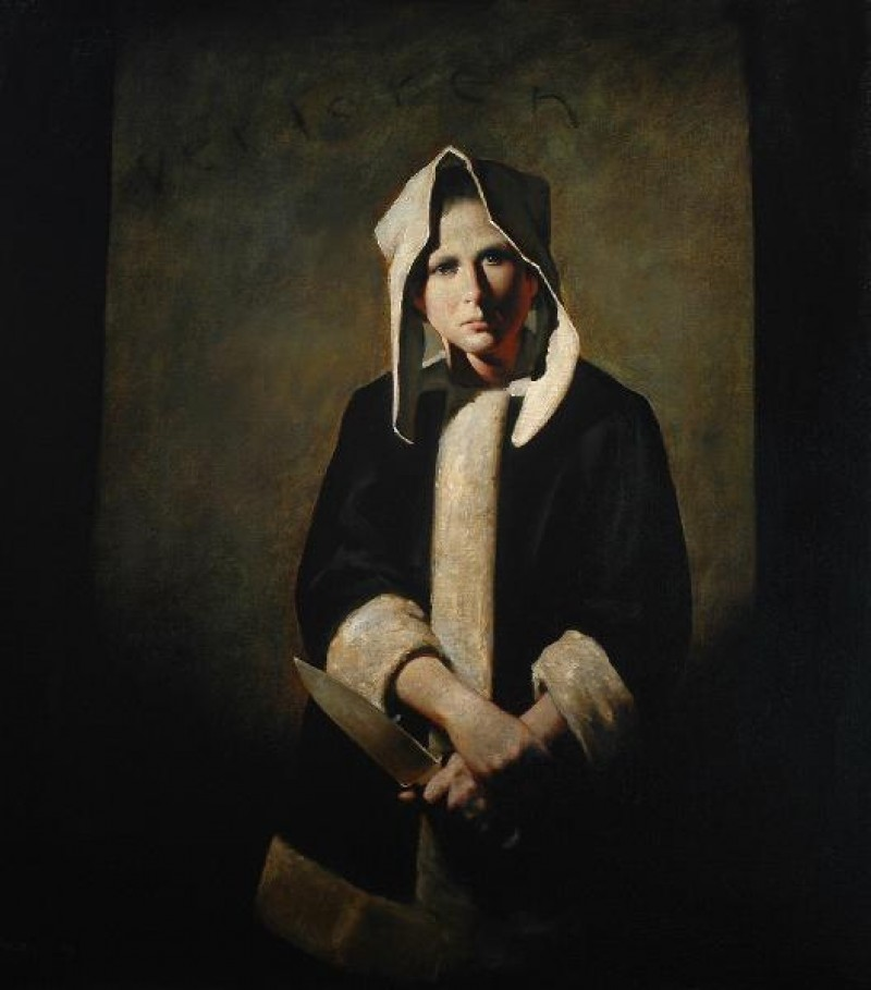 Ray Donley - Dutch Figure with Knife