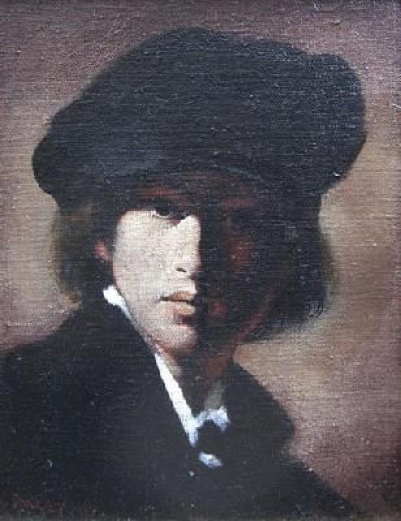 Leon Strous - Figure with black cap