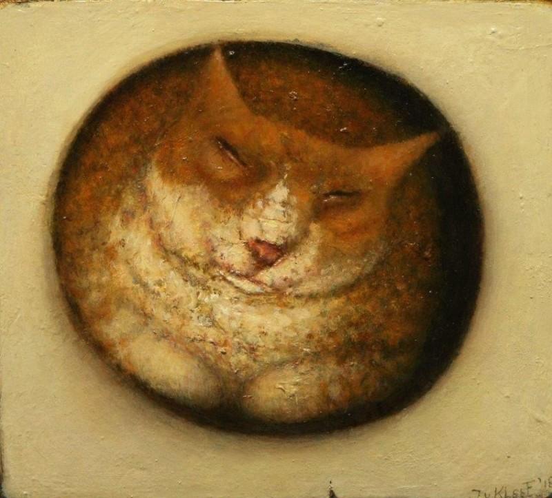 José van Kleef - Kat in ovaal