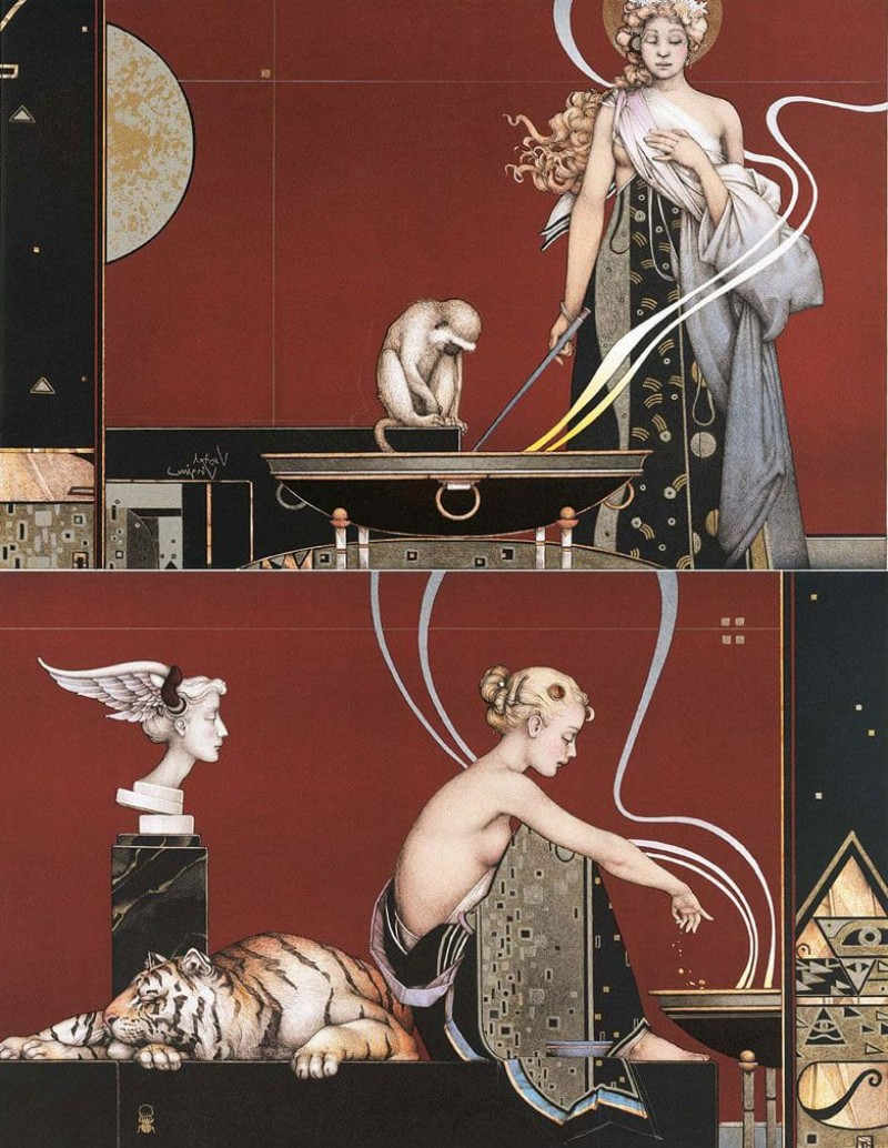Michael Parkes - Scared Fire 1 en 2