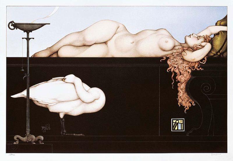 Michael Parkes - Sleeping Swan