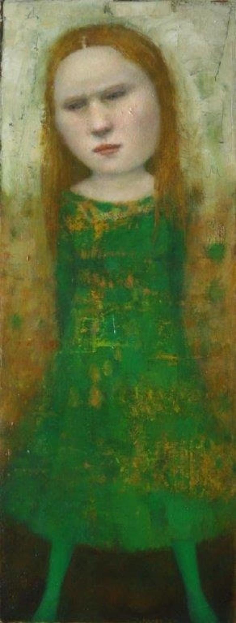 José van Kleef - Meisje in groene jurk