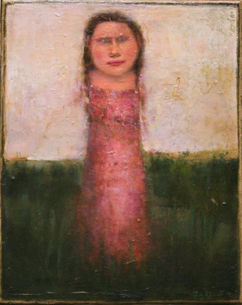 José van Kleef - Meisje in landschap 3
