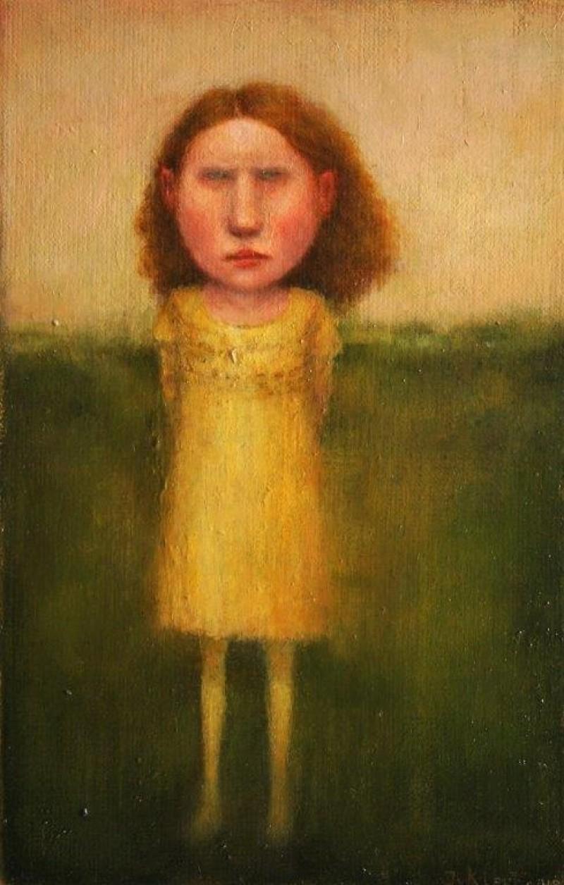 José van Kleef - Meisje met gele jurk