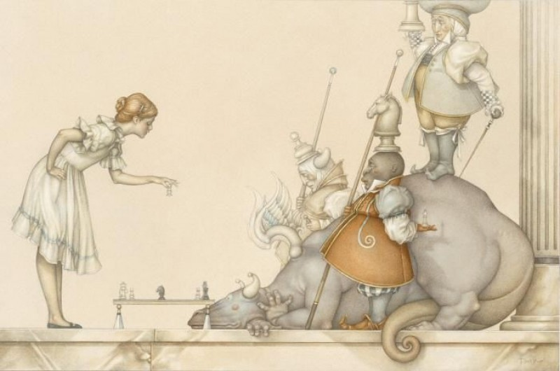 Michael Parkes - Child's Play: The Chess Game