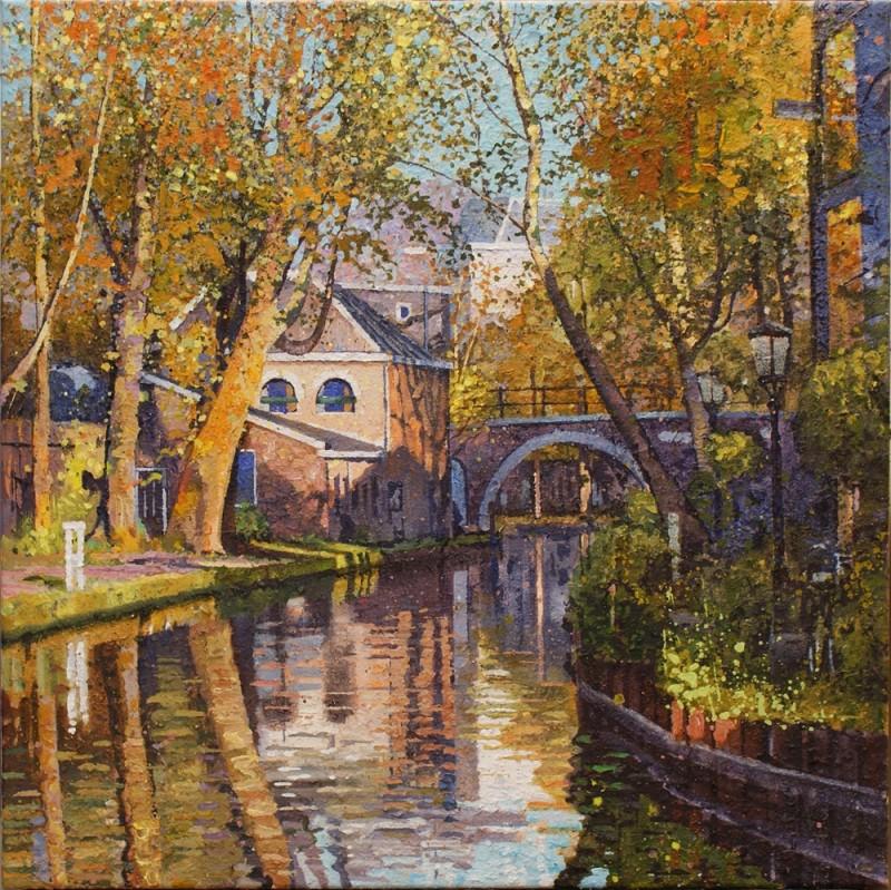 Willem van der Hofstede - Oudegracht met Vollersbrug
