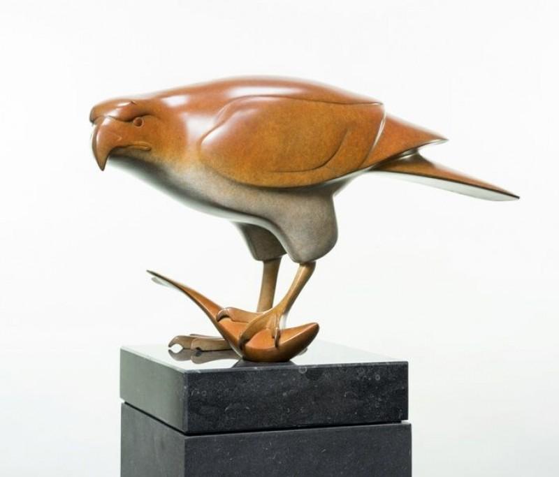 Evert den Hartog - Roofvogel met vis no 3