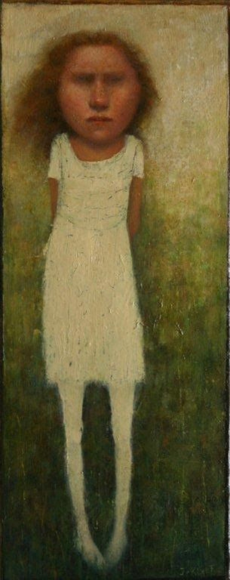 José van Kleef - Staand meisje in witte jurk