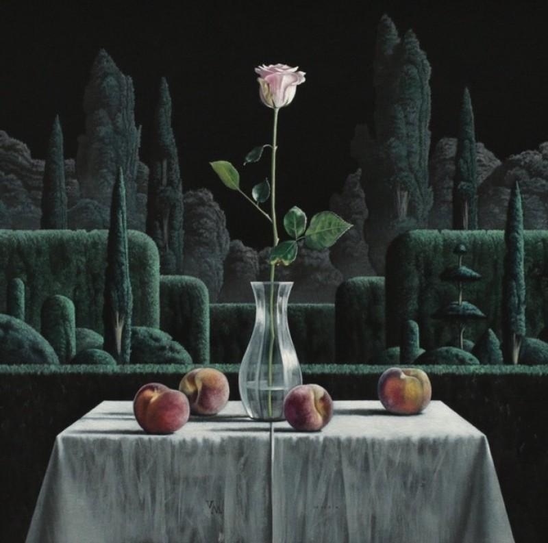 Victor Muller - Stilleven met perziken