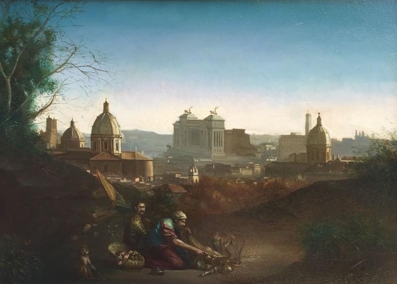 Giovanni Tommasi Ferroni - Panorama di Roma con Beduini (T103)