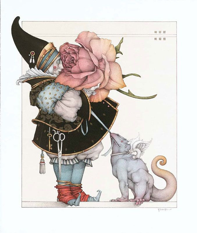 Michael Parkes - The Rose Collector