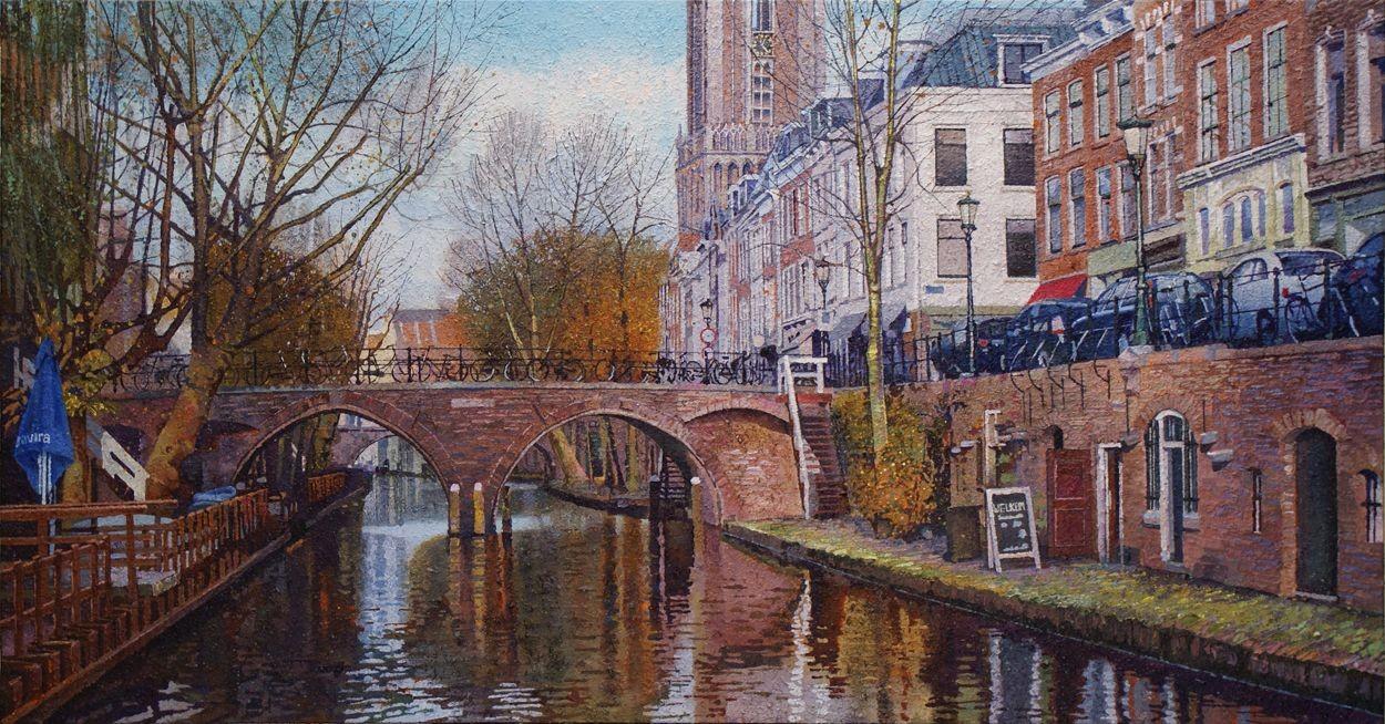 Willem van der Hofstede - Oudegracht met Hamburgerbrug