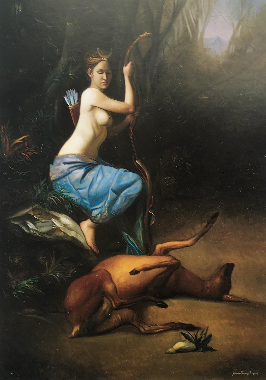Giovanni Tommasi Ferroni - Diana e la Cerva