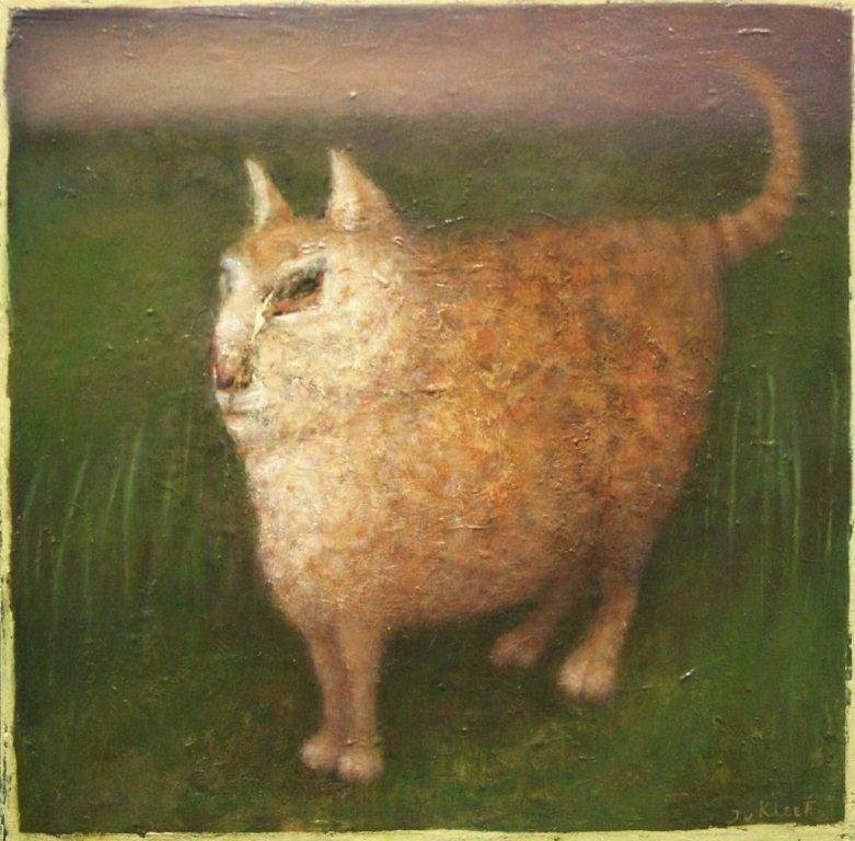 José van Kleef | Kat in grasland