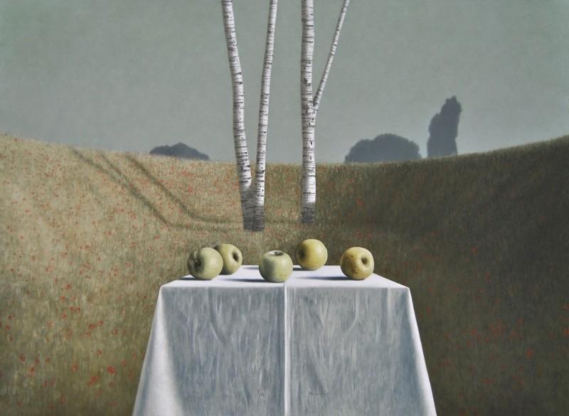 Victor Muller - Appels in papaverveld