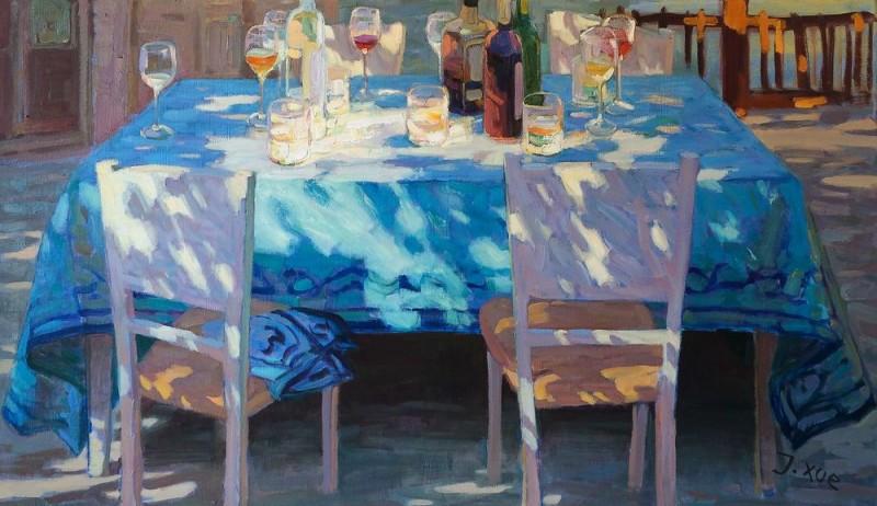 Juane Xue - De blauwe tafel
