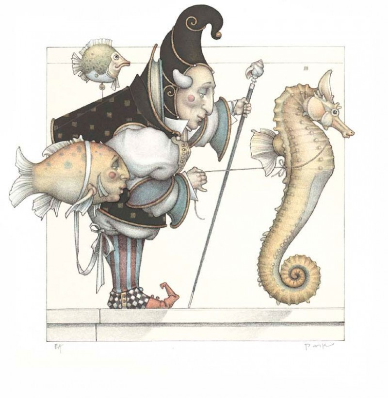 Michael Parkes - Sea Horse Collector