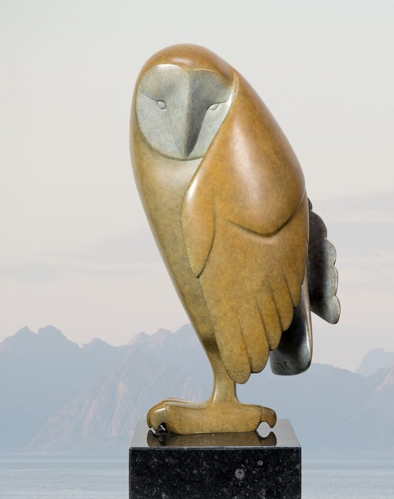 Evert den Hartog - Opkijkende uil no. 2