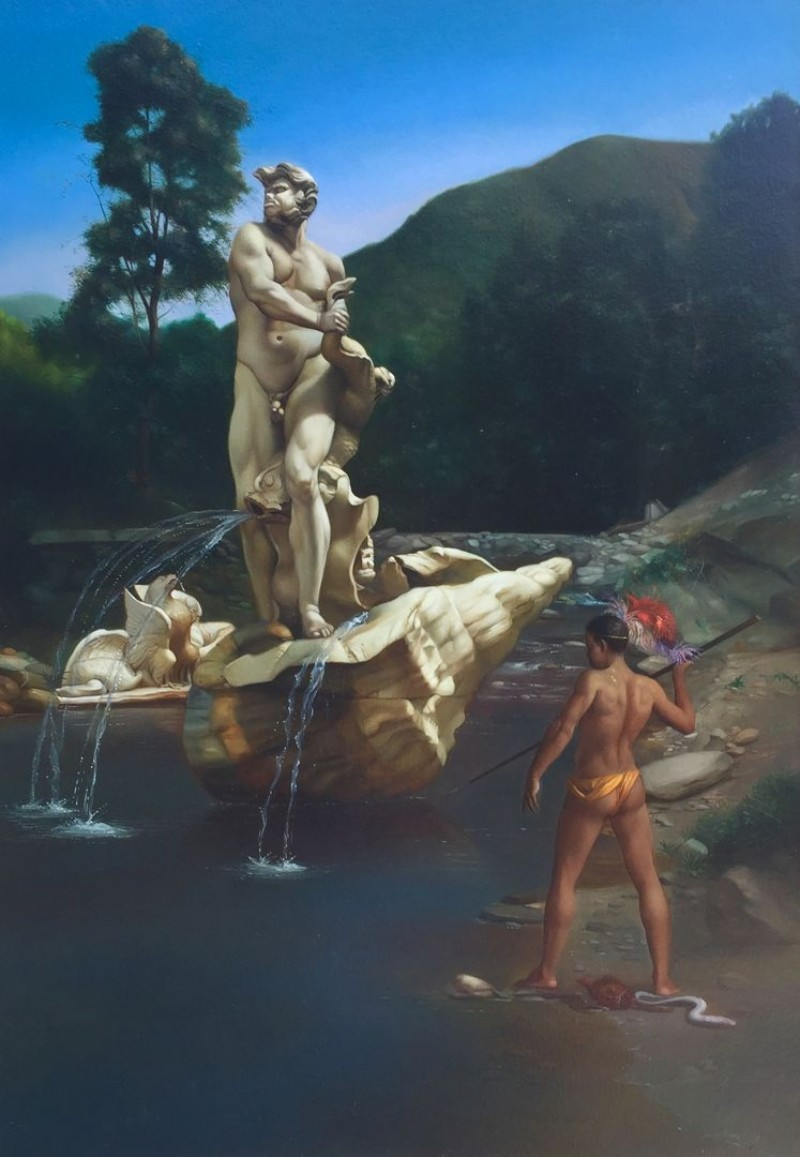 Giovanni Tommasi Ferroni - Pescatore con Fiocina (T143)