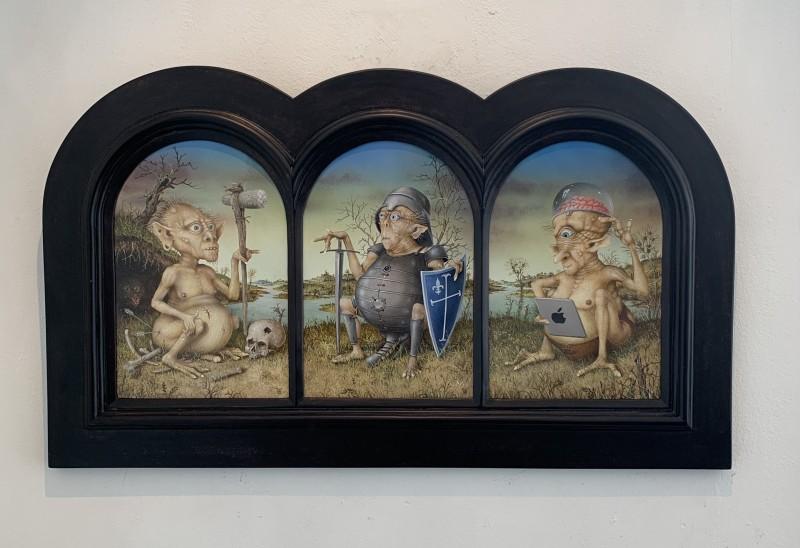 Gérard Willemenot - Triptych 'L'evolution'