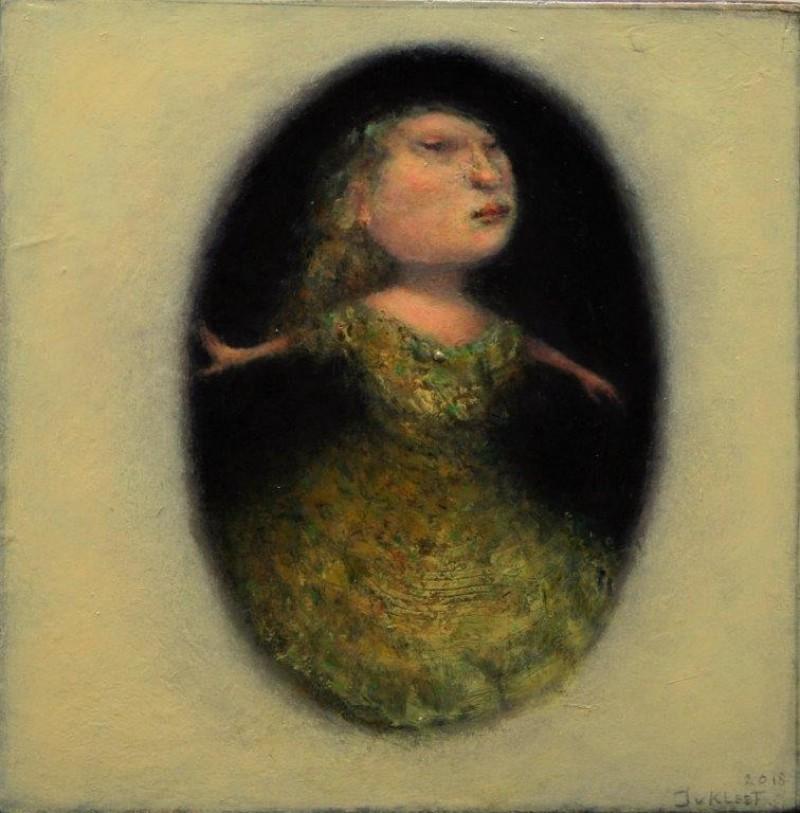 José van Kleef - Vrouwtje in zwart gat