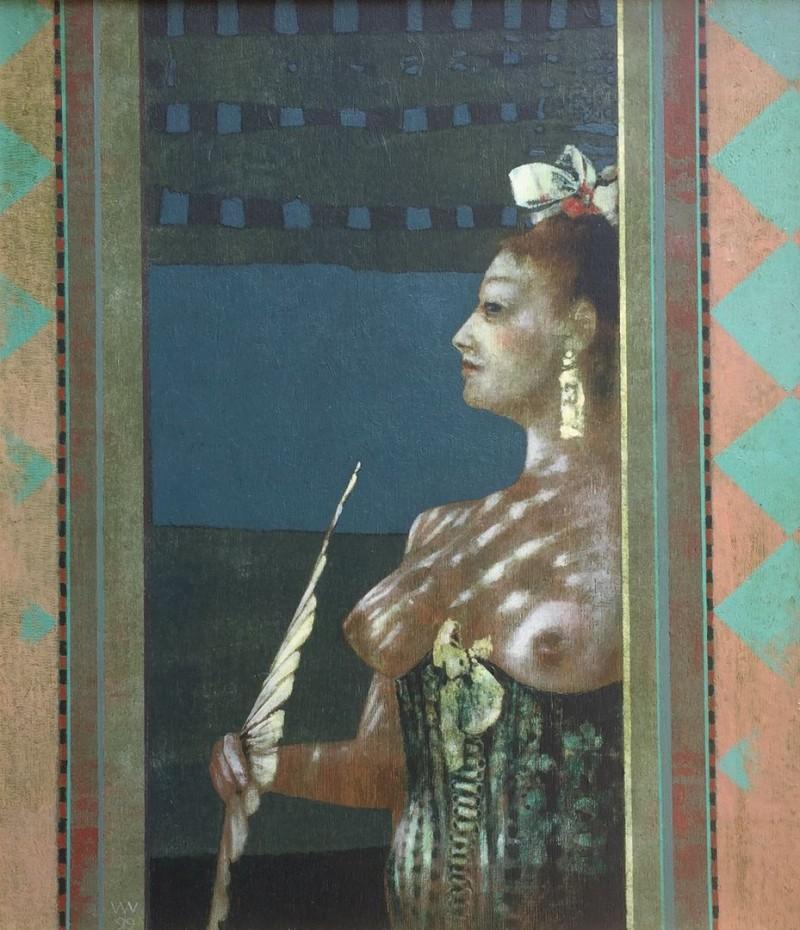 Wout Muller † - Vrouw met waaier ( 1999)
